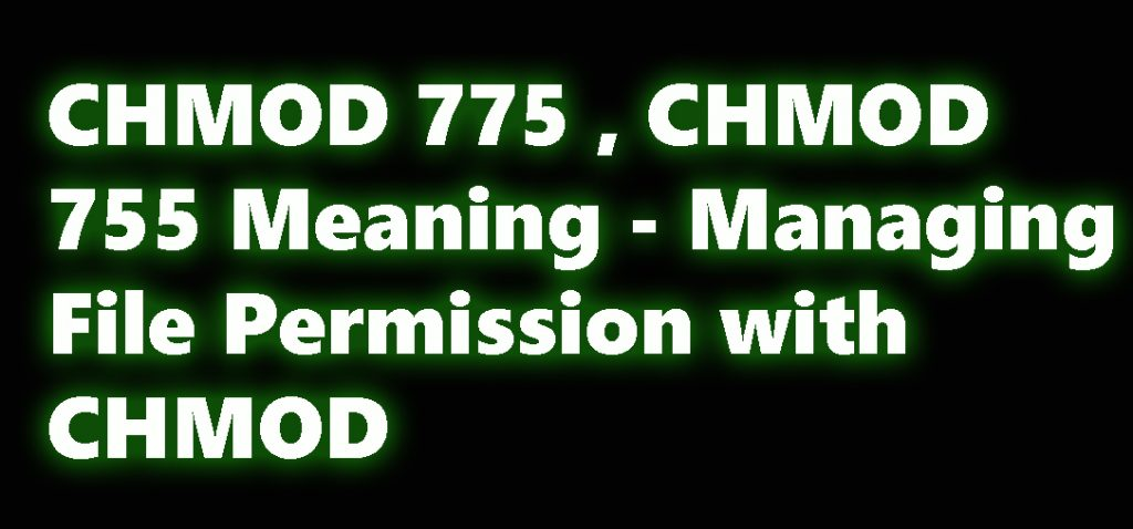 CHMOD 775 , CHMOD 755 Meaning - Managing File Permission with CHMOD